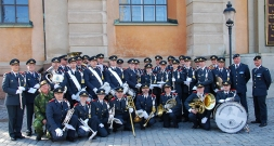 Changing of the guards ceremony in Stockholm
